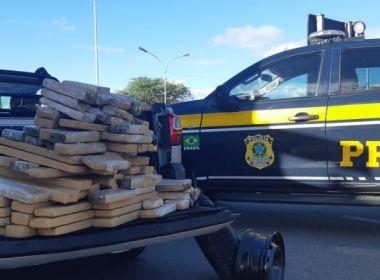 Jequié: PRF apreende mais 110 kg de maconha escondidos em caminhonete locada