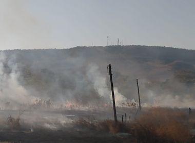 Barreiras: Incêndio atinge área de vegetação próxima à zona urbana