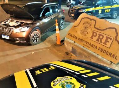 Pintor é preso com carro roubado em trecho da BR-242 em Seabra