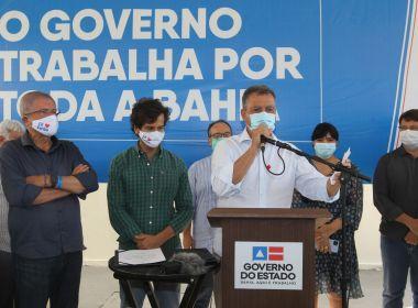 Coribe: Rui Costa entrega nova praça e equipamentos para hospital municipal
