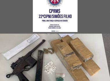 Drogas e arma são apreendidas em Simões filho; acusado de tráfico morre após confronto