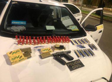 Ilhéus: Taxista é preso após tentar entrar na cidade com arma e mais de 200 munições