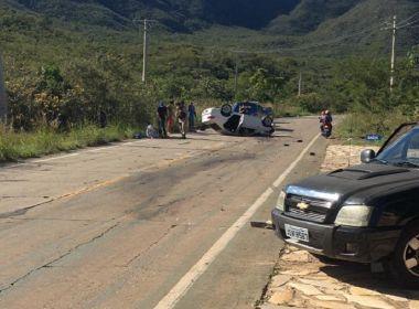 Chapada Diamantina: Acidente entre carro e caminhonete deixa um ferido