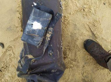 Alcobaça: Nova mochila com cocaína é achada em praia; material valia mais de R$ 2 milhões