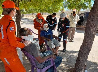Ibotirama: Corpo de Bombeiros socorre vítimas de acidente automobilístico