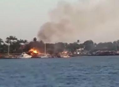 Porto Seguro: Fogo atinge hotel e chamas consomem cabana em Arraial D'Ajuda