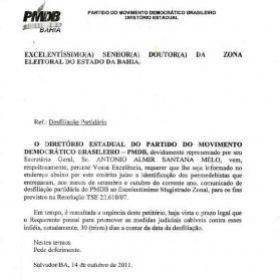 Bahia Notícias Notícia Pmdb Pede Que Justiça Eleitoral
