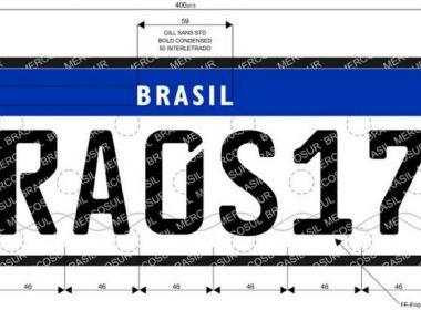 Governo suspende normas para trocar placar de veículos seguindo padrão do Mercosul