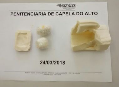 Avó de detento é presa ao tentar entrar em presídio com cocaína escondida em sabão