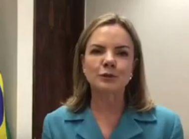 Presidente nacional do PT, Gleisi declara apoio à reeleição de Lídice