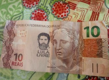 BC diz que não proibiu bancos de aceitar notas com carimbo 'Lula Livre'