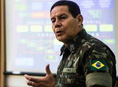 JH faz aposta sobre eleição presidencial: 'General Mourão liderando a pesquisa'