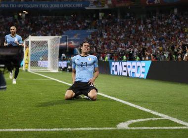 Cavani brilha, Uruguai bate Portugal e vai encarar a França nas quartas de final