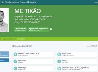 Cantor de funk preso por relação com o tráfico de drogas é candidato à Câmara pelo RJ