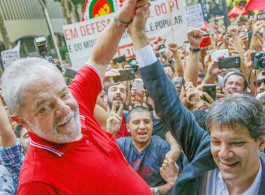 Lula pode transferir até 34% de votos para Haddad, aponta pesquisa