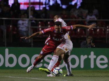 Com gol de Diego Souza, Bahia perde para o São Paulo no Morumbi
