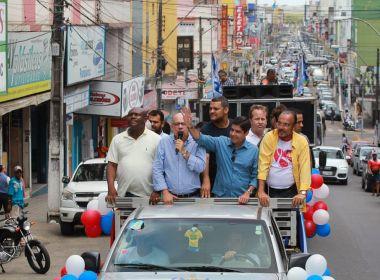 Zé Ronaldo promete duplicação da estrada para Ilhéus durante carreata em Itabuna