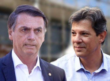 Bolsonaro e Haddad devem disputar segundo turno, diz Ibope