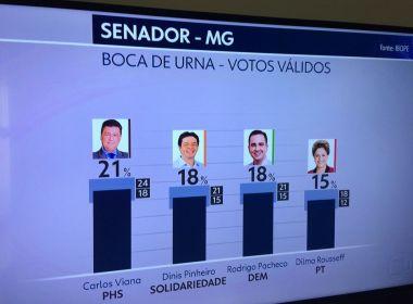 Boca de urna Ibope: Dilma aparece em quarto lugar com 15% na disputa pelo Senado em MG