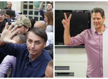 Bolsonaro segue na liderança, mas vantagem sobre Haddad cai 6 pontos, diz Datafolha