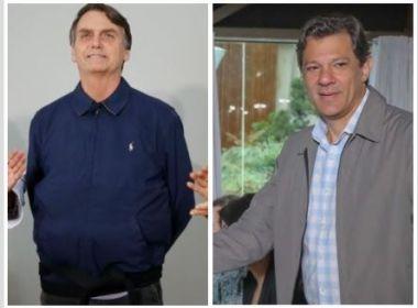 Rejeição de Bolsonaro e Haddad oscilam nas pesquisas Ibope e Datafolha