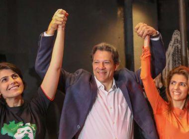 Haddad chora e diz que gostaria de vencer eleição por Lula e PT
