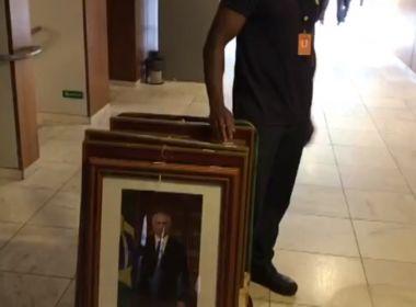 Retratos de Michel Temer começam a ser retirados do Palácio do Planalto