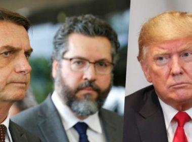 Itamaraty planeja para o fim de março primeiro encontro de Bolsonaro com Trump