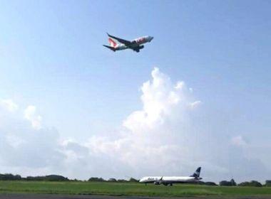 Vídeo mostra avião arremetendo em Noronha para evitar colisão com outra aeronave