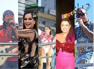 Terça de Carnaval tem Bell, Cláudia Leitte, Léo Santana, Alinne, Preta e Àttooxxá