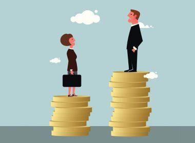 Renda média dos homens é 26% maior do que salário das mulheres