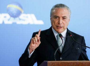 Preso em São Paulo, Temer será levado para sede da PF no Rio de Janeiro, diz TV