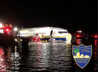Avião cai em rio quando aterrissava em aeroporto da Flórida