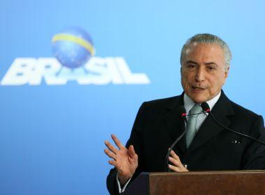 Justiça Federal determina o bloqueio de R$ 32,6 mi de Temer, Lima e sócio