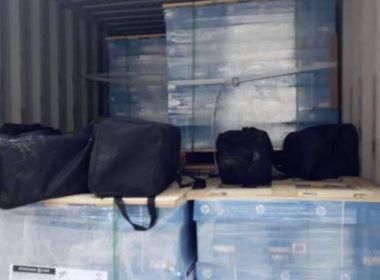 PF apreende 329 kg de cocaína em contêiner no Porto de Santos