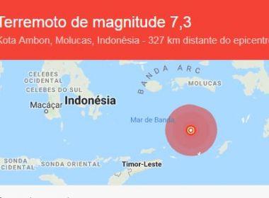 Terremoto atinge leste da Indonésia; não há alerta de tsunami