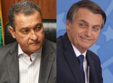Bolsonaro acusa Rui Costa de proibir PMs na inauguração do aeroporto; petista rebate