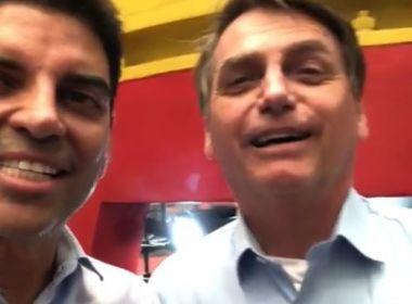 Ao lado de Cajado, Bolsonaro diz que só falta 'crescer a cabeça' para virar 'cabra da peste'