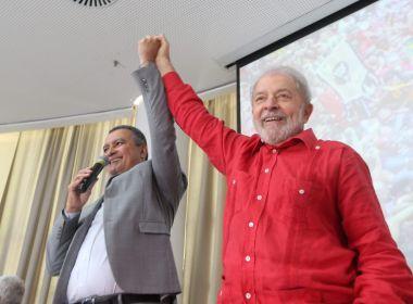 Em Salvador, Lula acena à candidatura de Rui Costa à presidência da República