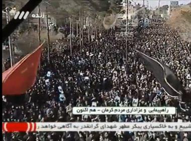 Milhares de pessoas protestam na capital do Irã por morte de general Suleimani