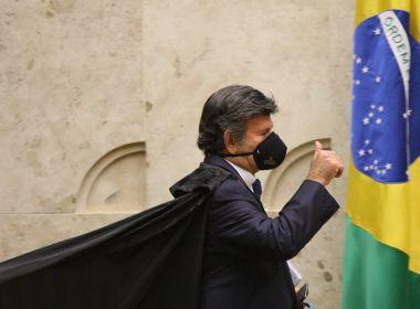 Em conversa com Alcolumbre, Fux defende Celso de Mello e manda recado a Bolsonaro