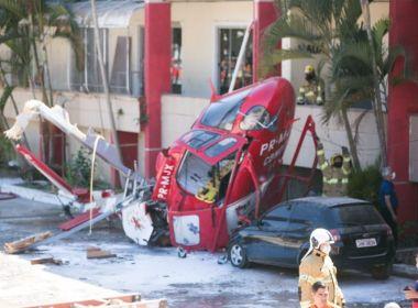 Helicóptero de resgate do Corpo de Bombeiros cai no DF