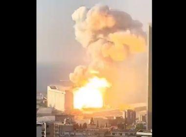 Incêndio em fábrica de fogos-de-artifício gera grande explosão na capital do Líbano
