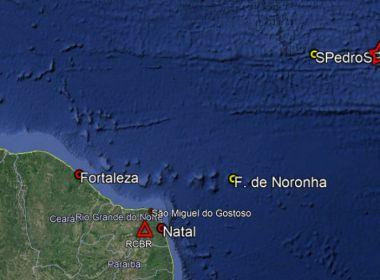 Terremoto de magnitude 6,9 atinge o Atlântico próximo a Fernando de Noronha