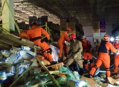 Vídeo: Queda de prateleiras em supermercado deixa 1 morto e 8 feridos no Maranhão