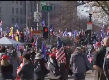 Apoiadores de Trump fazem protesto contra resultado das eleições nos EUA