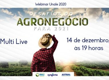 Unale realiza webinar sobre os desafios do agronegócio para 2021