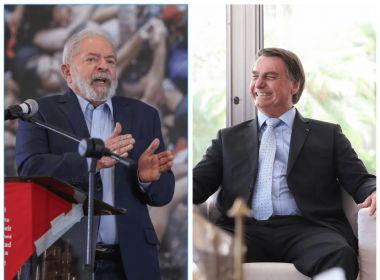 XP/Ipespe: Bolsonaro e Lula estão tecnicamente empatados para 2022