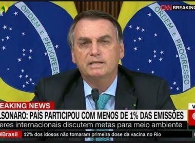 Bolsonaro promete eliminar desmatamento ilegal na Amazônia até 2030