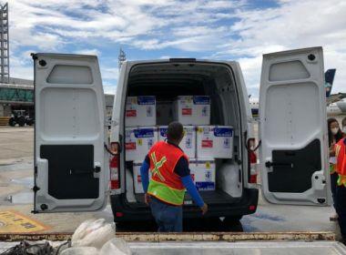 Bahia recebe 244 mil doses de vacina contra Covid-19; distribuição começa no sábado